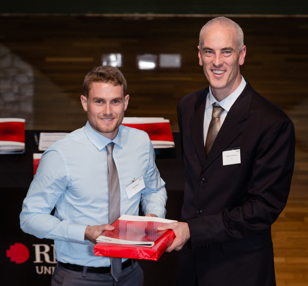 Jake Robins wins the Surveying Prize