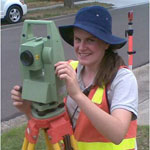 tertiary student studying diploma of Surveying